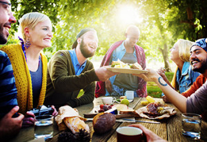 Arbutus Ridge Farms food is great for get togethers with friends